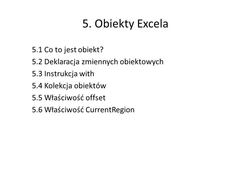 5. Obiekty Excela