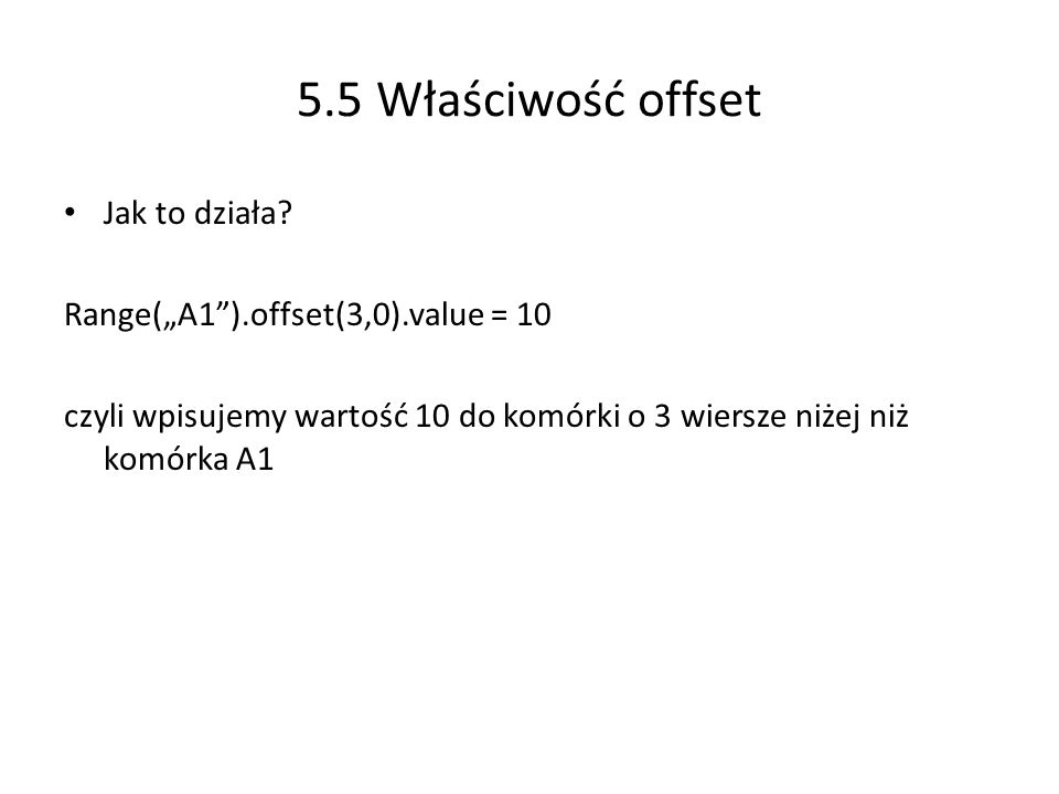 5.5 Właściwość offset Jak to działa
