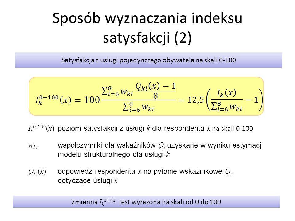 Sposób wyznaczania indeksu satysfakcji (2)