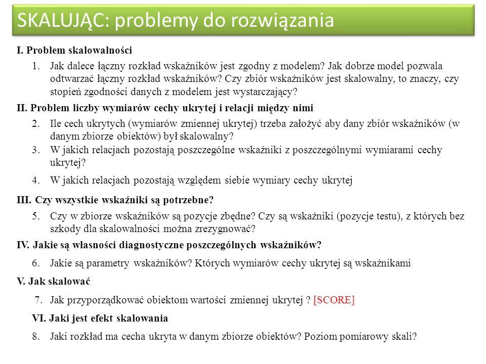 SKALUJĄC: problemy do rozwiązania