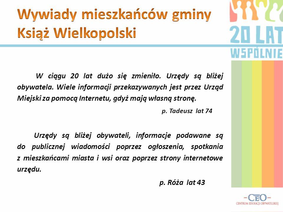 Wywiady mieszkańców gminy Książ Wielkopolski