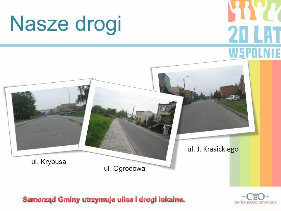 Nasze drogi ul. J. Krasickiego ul. Krybusa ul. Ogrodowa