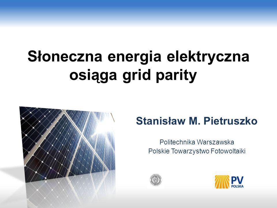 Słoneczna energia elektryczna osiąga grid parity