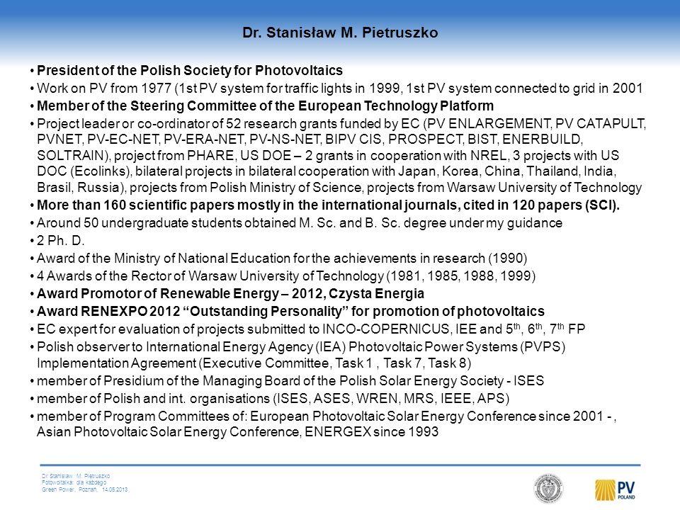Dr. Stanisław M. Pietruszko
