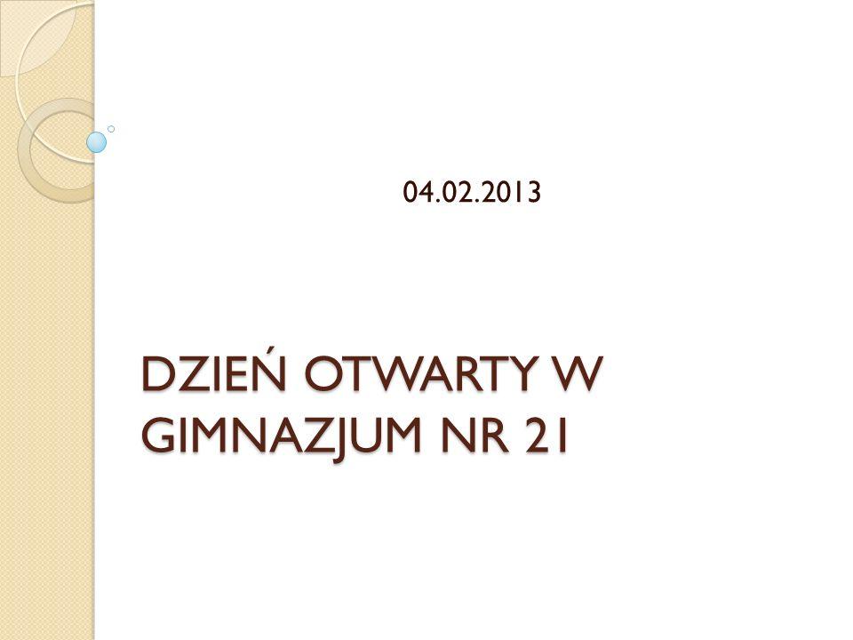 DZIEŃ OTWARTY W GIMNAZJUM NR 21