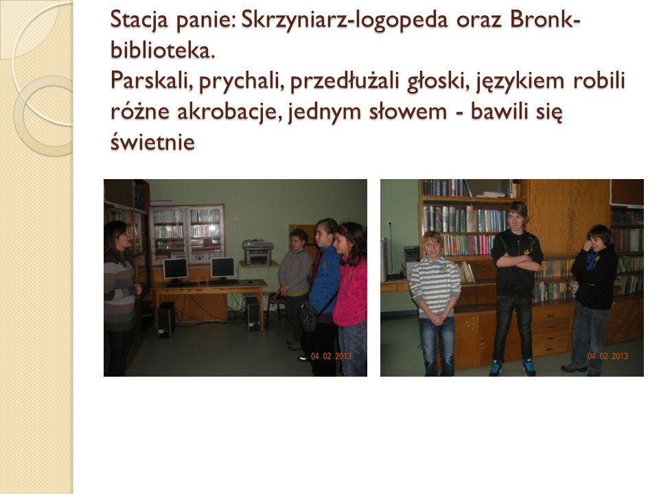 Stacja panie: Skrzyniarz-logopeda oraz Bronk-biblioteka
