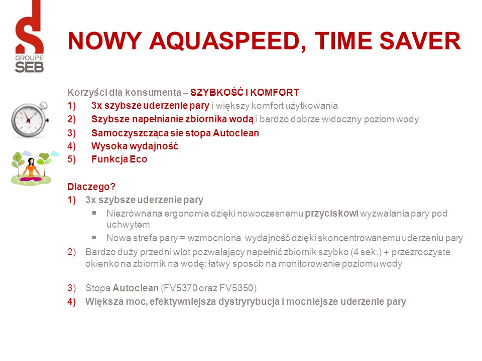 NOWY AQUASPEED, TIME SAVER