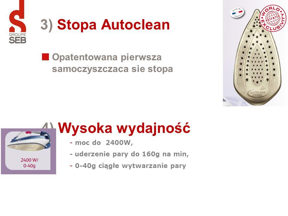 3) Stopa Autoclean 4) Wysoka wydajność
