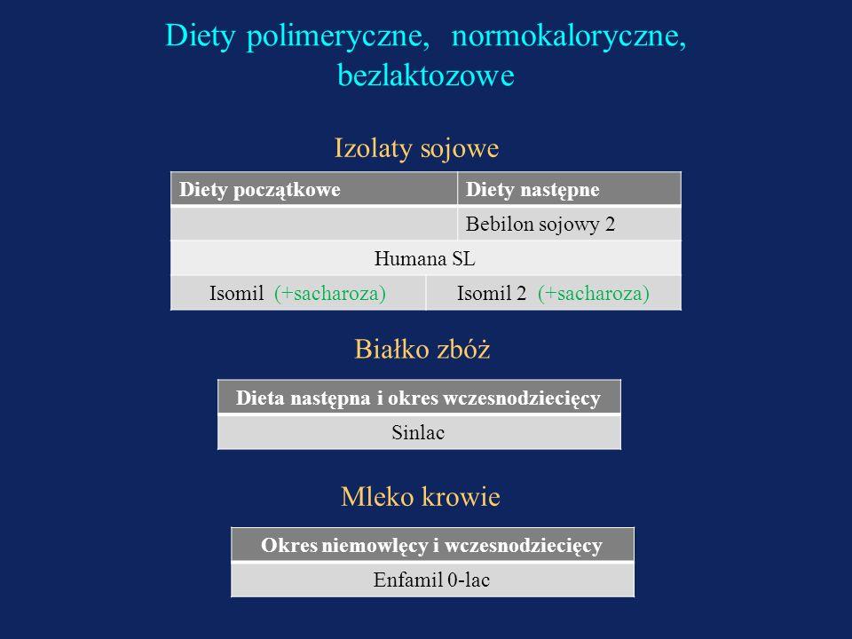 Diety polimeryczne, normokaloryczne, bezlaktozowe