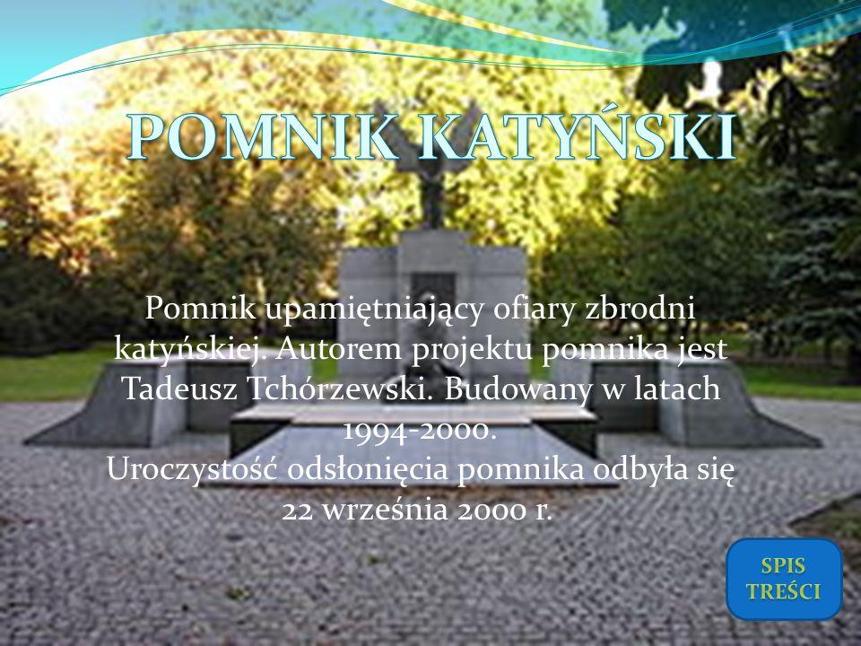 Uroczystość odsłonięcia pomnika odbyła się 22 września 2000 r.