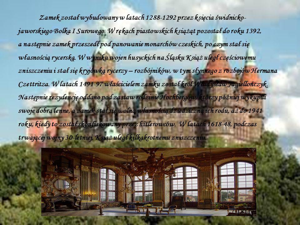 Zamek został wybudowany w latach 1288-1292 przez księcia świdnicko-jaworskiego Bolka I Surowego.