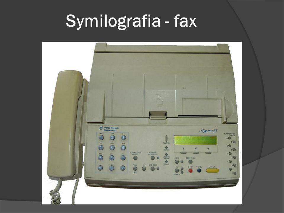Symilografia - fax