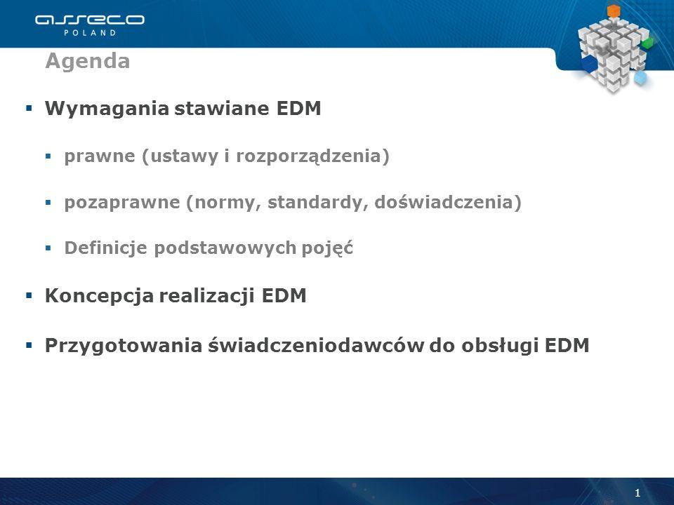 Agenda Wymagania stawiane EDM Koncepcja realizacji EDM