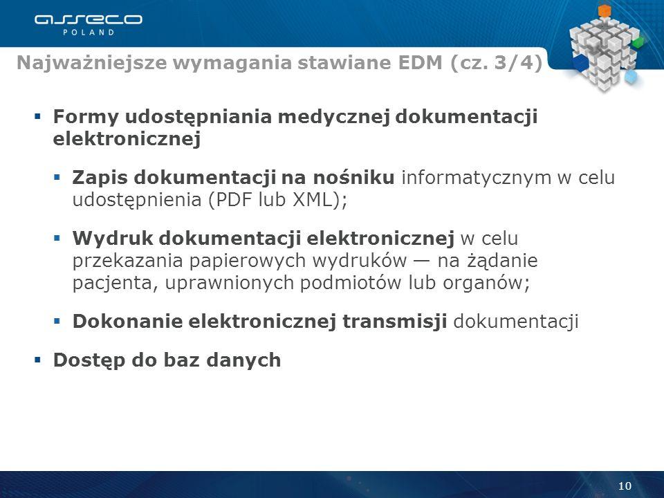 Najważniejsze wymagania stawiane EDM (cz. 3/4)