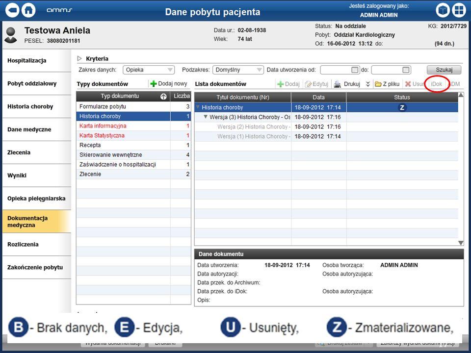 Dokumentacja w systemie AMMS