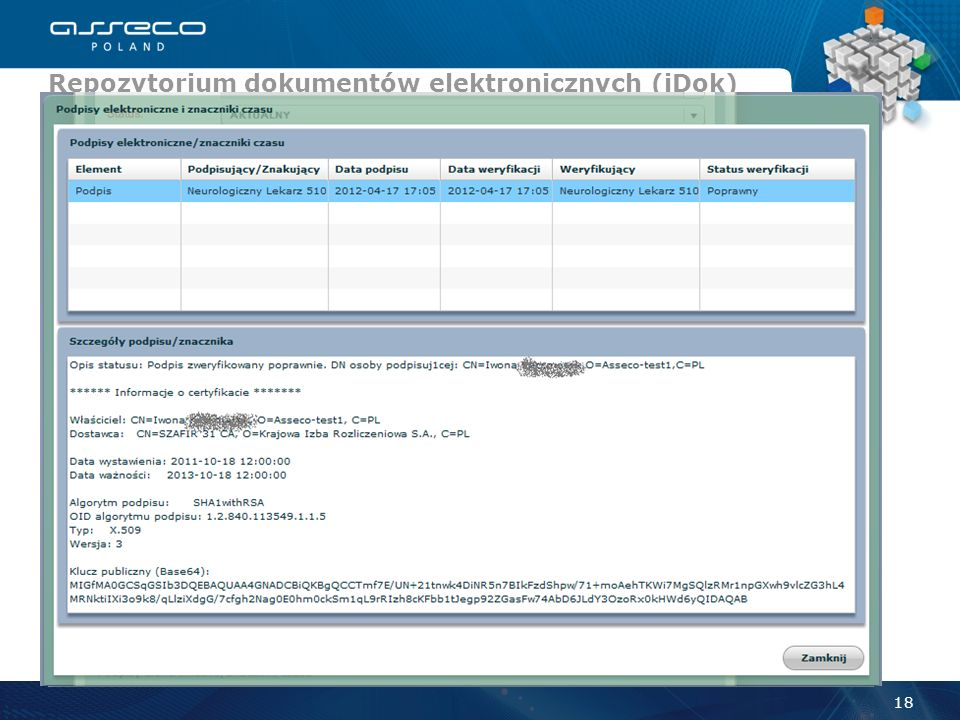 Repozytorium dokumentów elektronicznych (iDok)