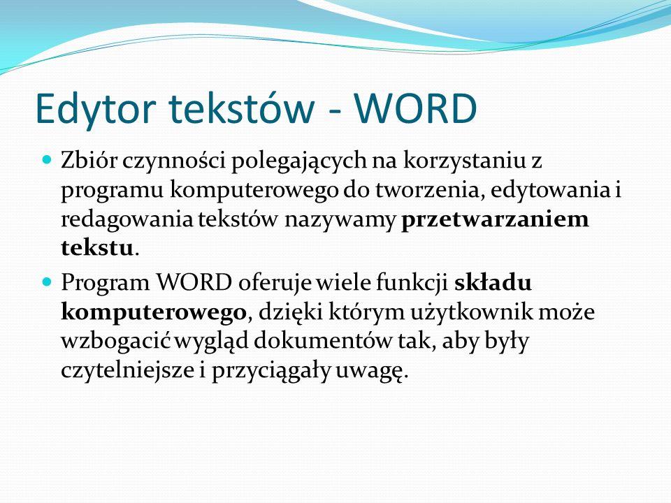 Edytor tekstów - WORD