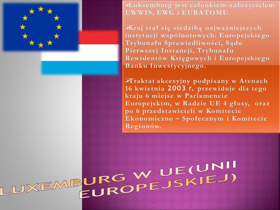 Luxemburg w uE(unii europejskiej)
