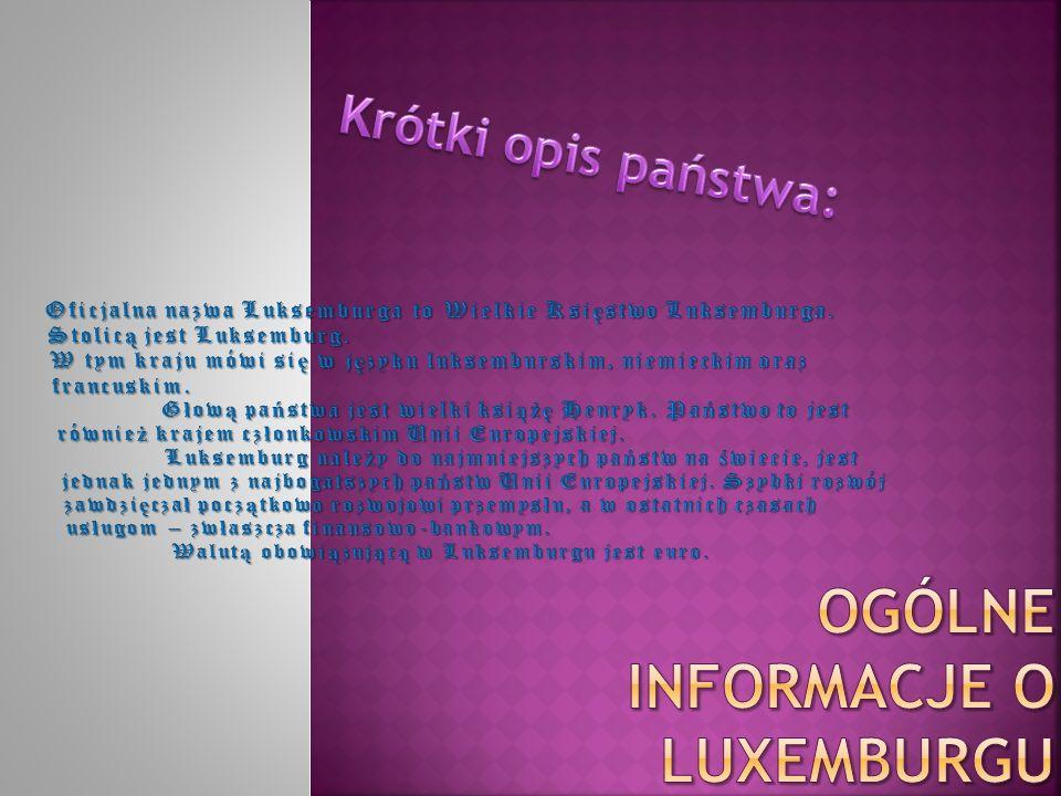 Ogólne informacje o luxemburgu