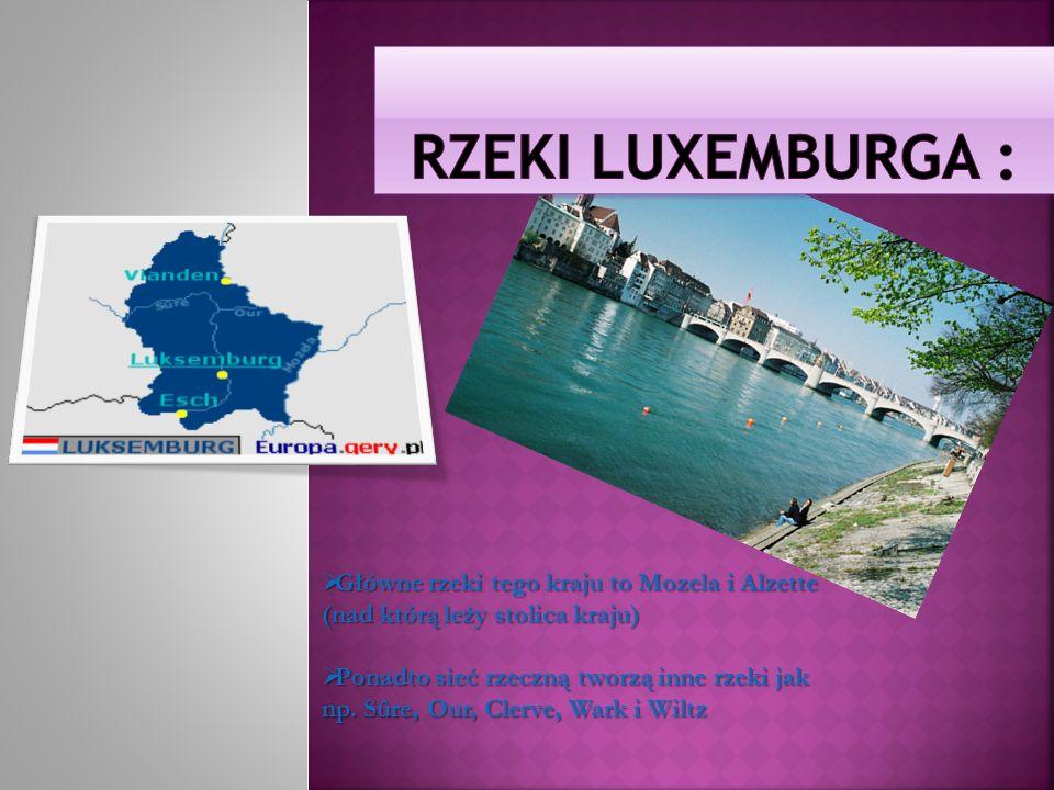 Rzeki Luxemburga : Główne rzeki tego kraju to Mozela i Alzette (nad którą leży stolica kraju)