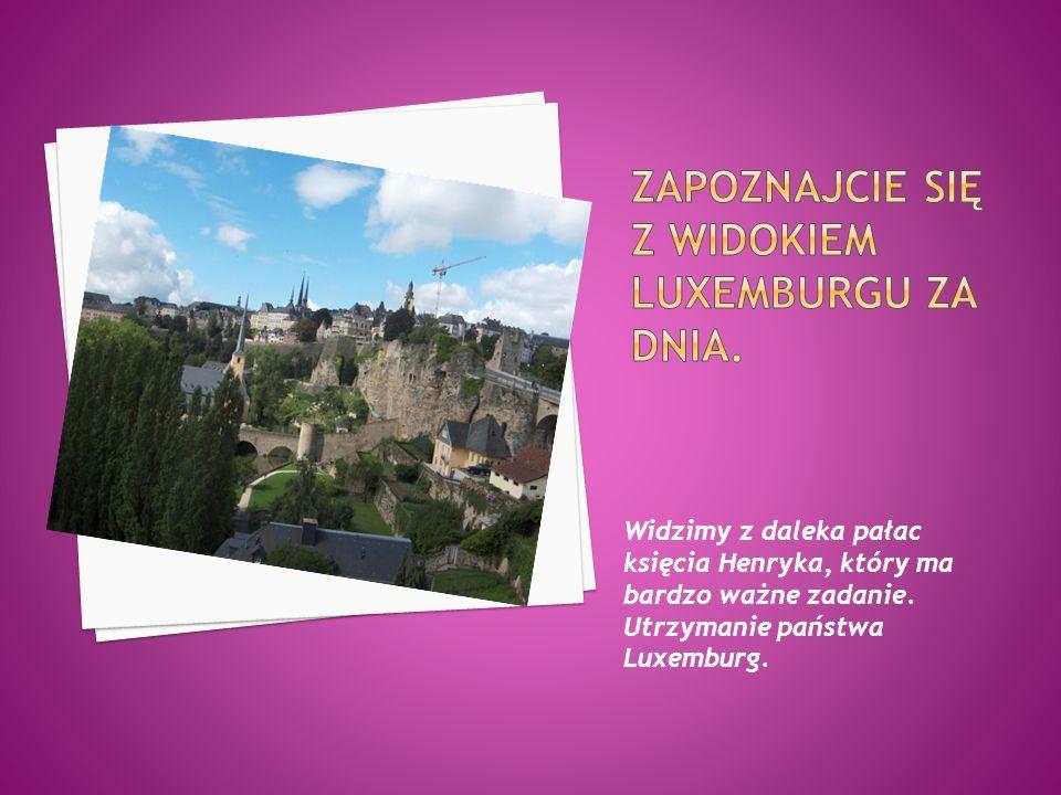 Zapoznajcie się z widokiem luxemburgu za dnia.