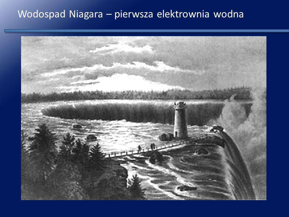 Wodospad Niagara – pierwsza elektrownia wodna