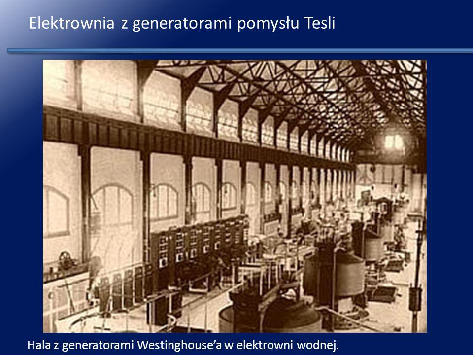 Elektrownia z generatorami pomysłu Tesli