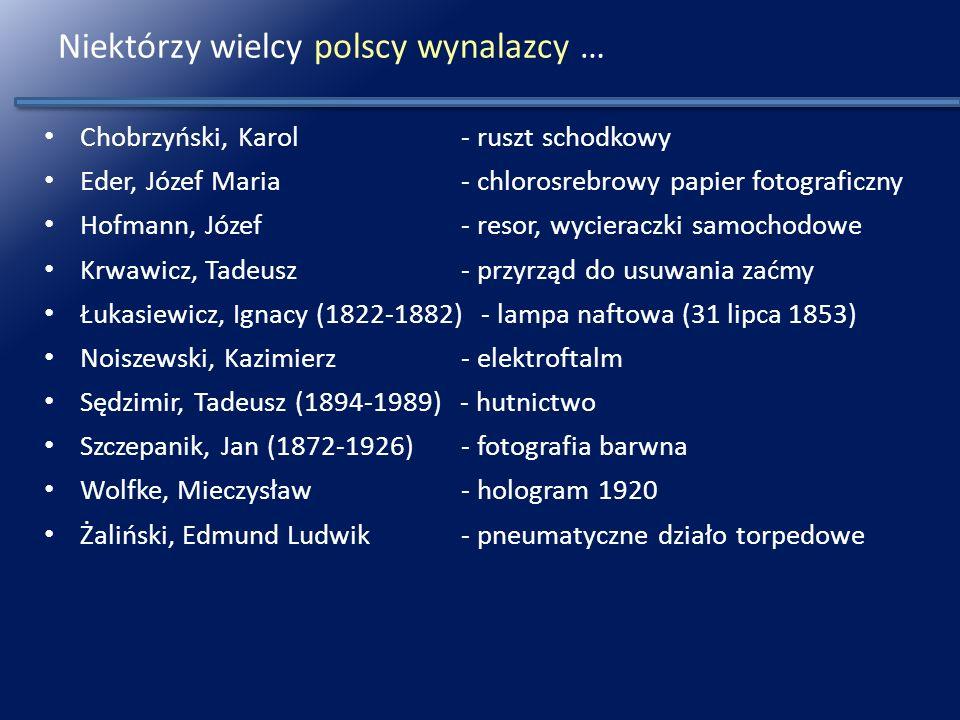 Niektórzy wielcy polscy wynalazcy …