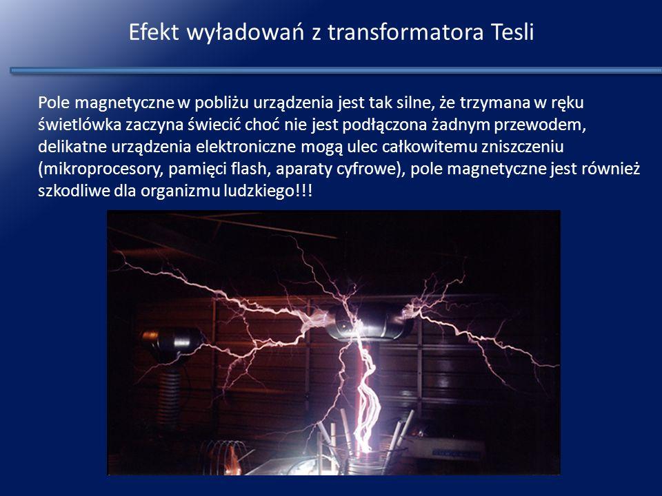 Efekt wyładowań z transformatora Tesli