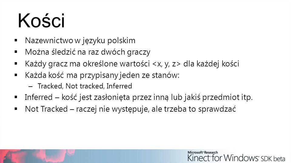 Kości Nazewnictwo w języku polskim Można śledzić na raz dwóch graczy