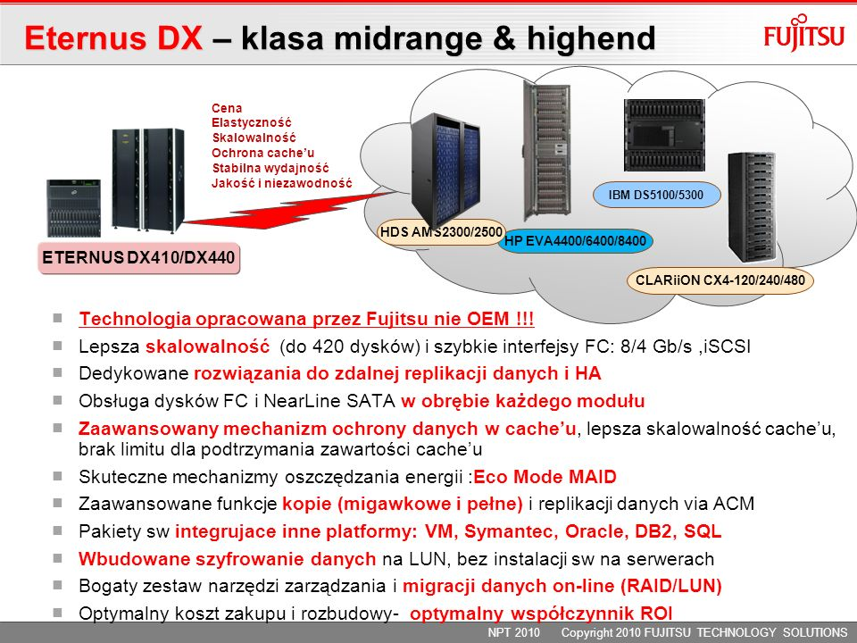 Eternus DX – klasa midrange & highend