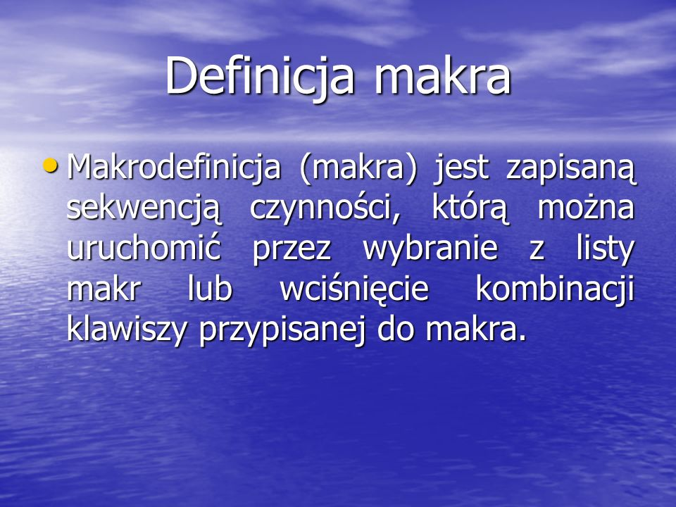 Definicja makra