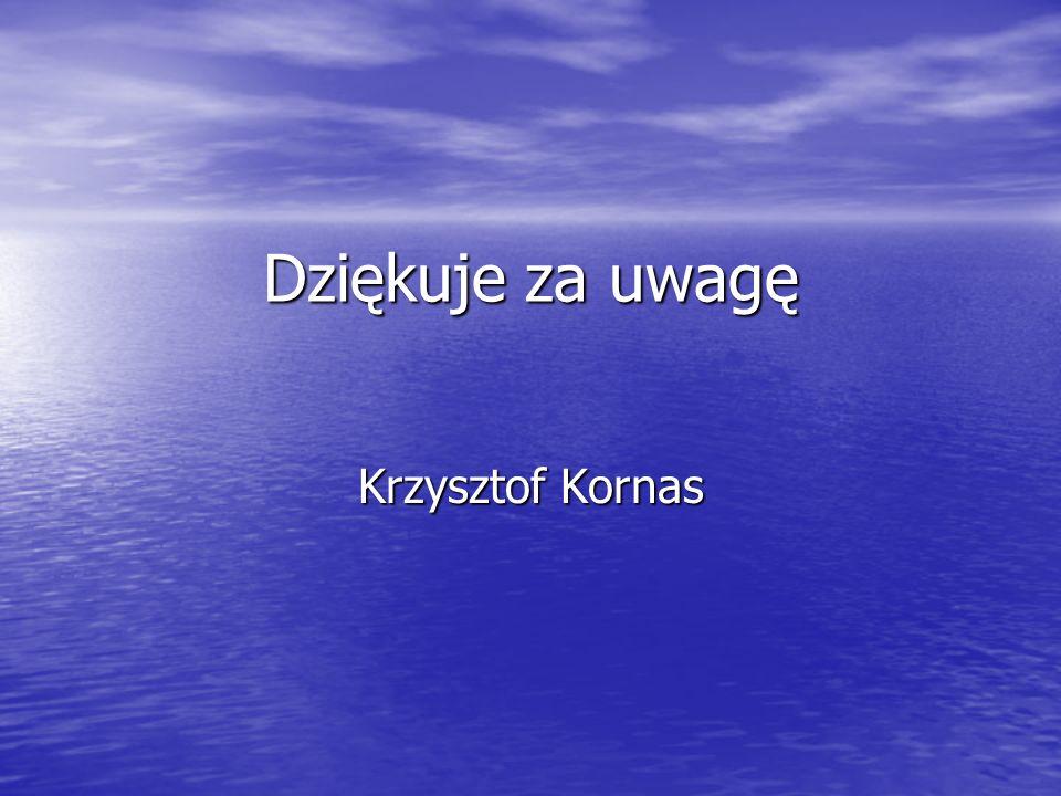 Dziękuje za uwagę Krzysztof Kornas
