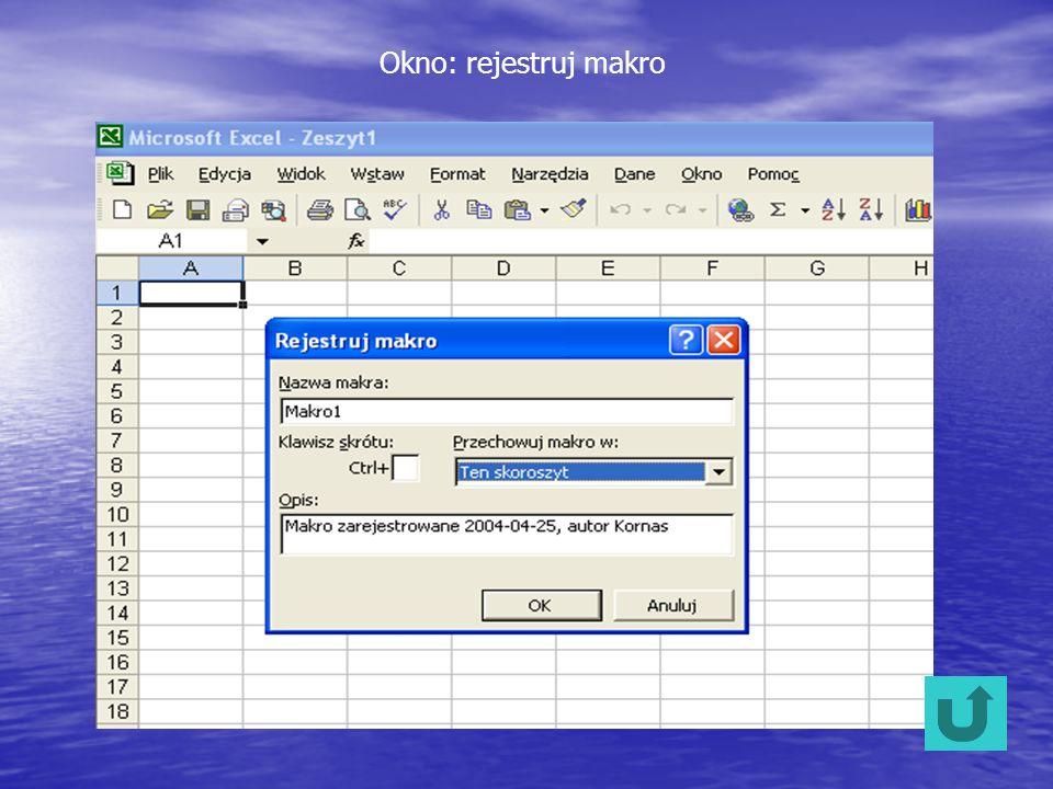 Okno: rejestruj makro