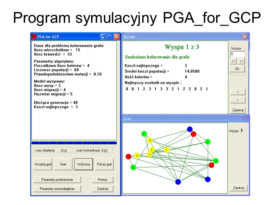 Program symulacyjny PGA_for_GCP