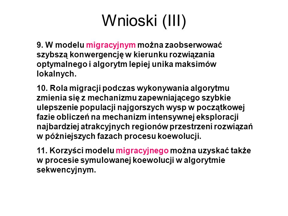 Wnioski (III)