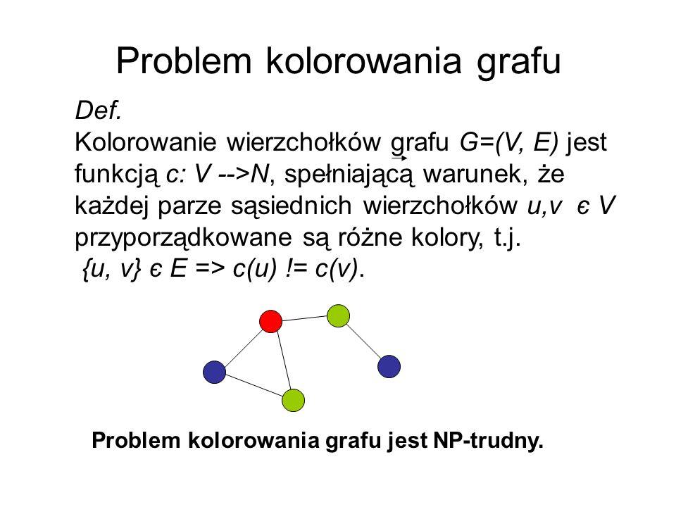 Problem kolorowania grafu