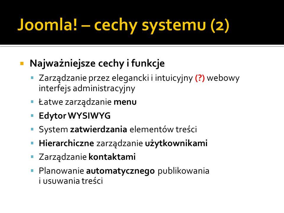 Joomla! – cechy systemu (2)
