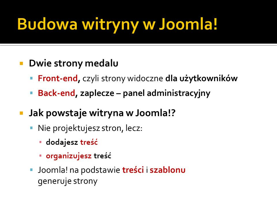 Budowa witryny w Joomla!
