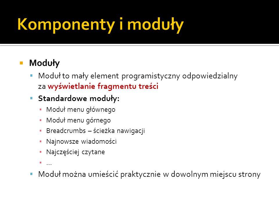 Komponenty i moduły Moduły