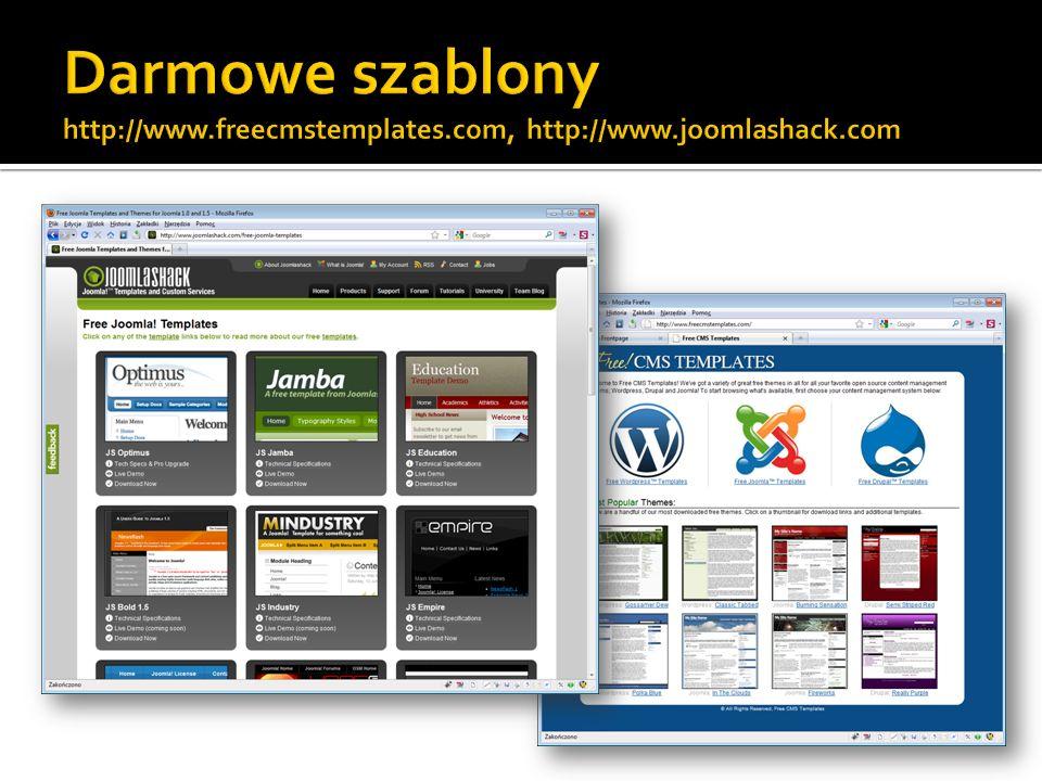Darmowe szablony http://www. freecmstemplates. com, http://www