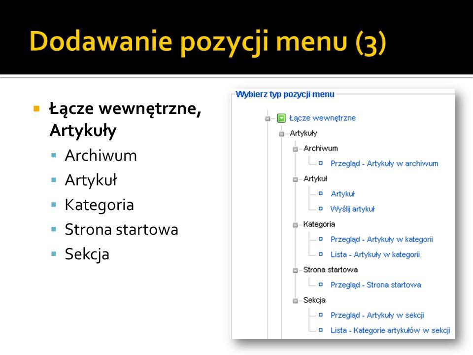 Dodawanie pozycji menu (3)