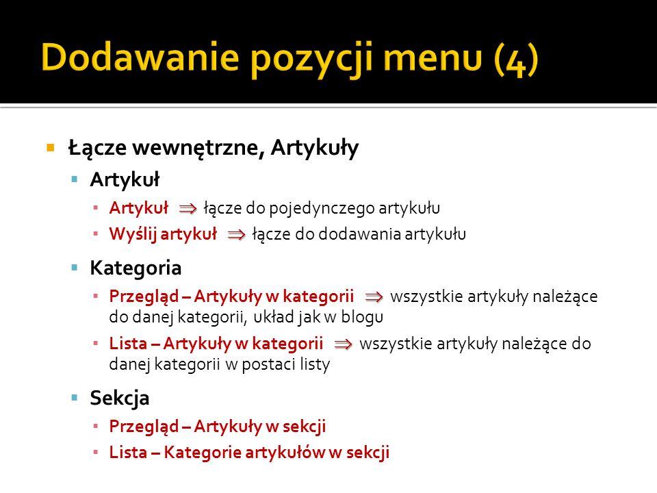 Dodawanie pozycji menu (4)