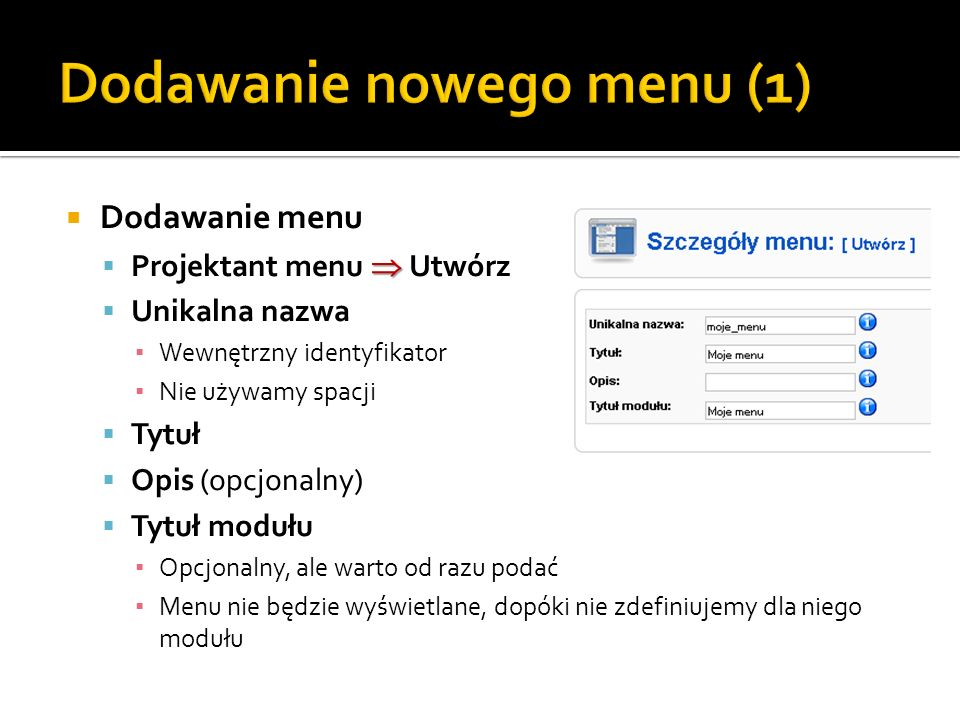 Dodawanie nowego menu (1)