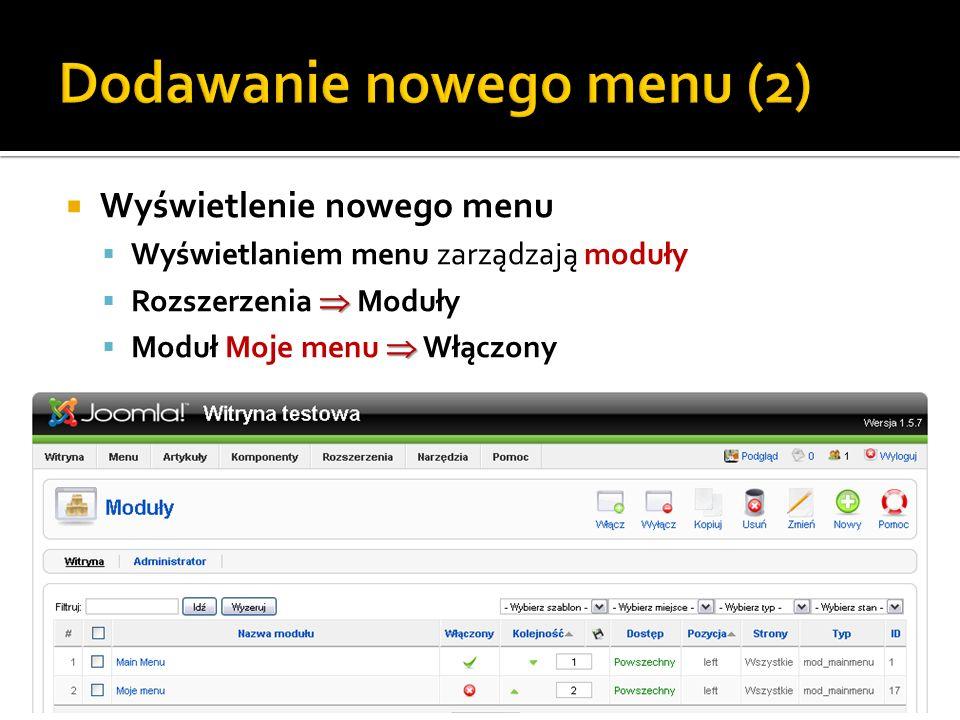 Dodawanie nowego menu (2)