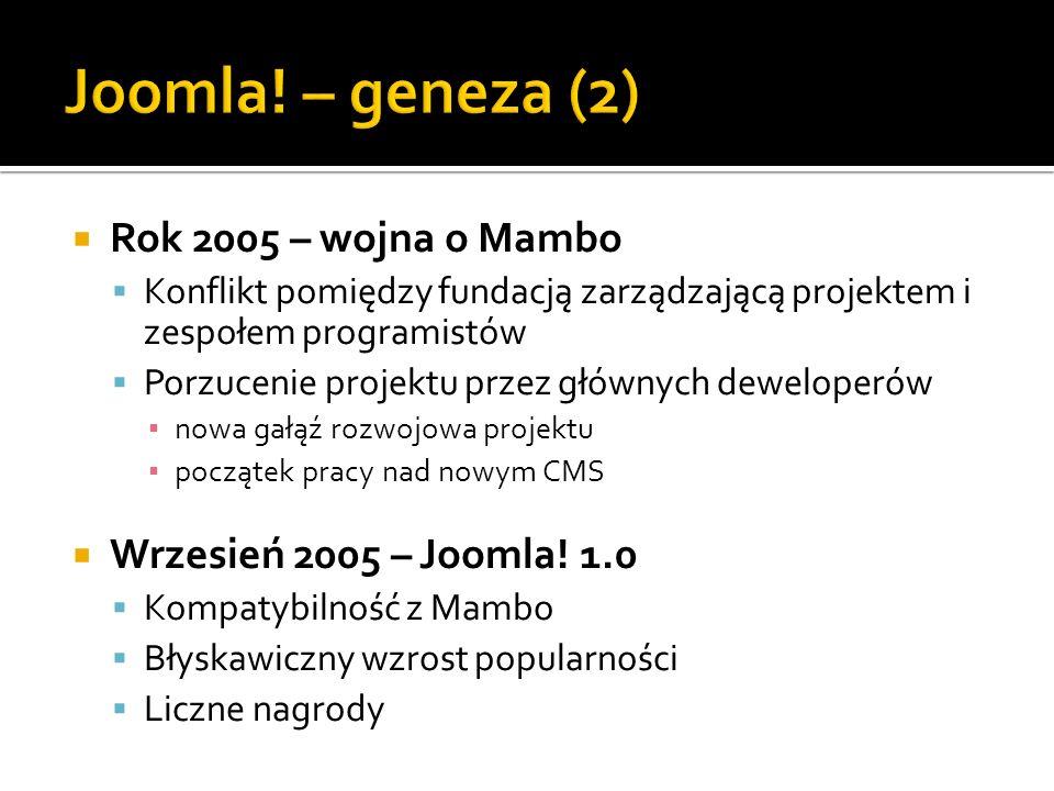 Joomla! – geneza (2) Rok 2005 – wojna o Mambo