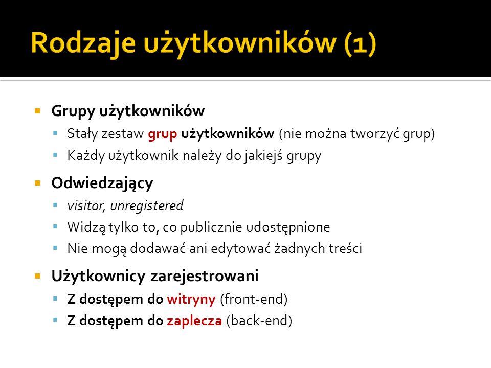 Rodzaje użytkowników (1)