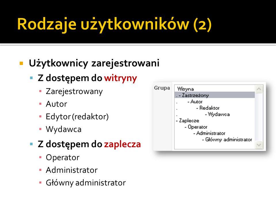 Rodzaje użytkowników (2)