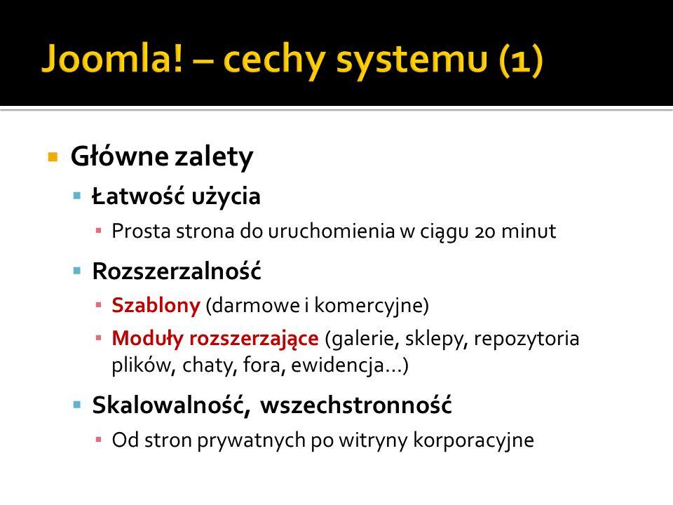Joomla! – cechy systemu (1)