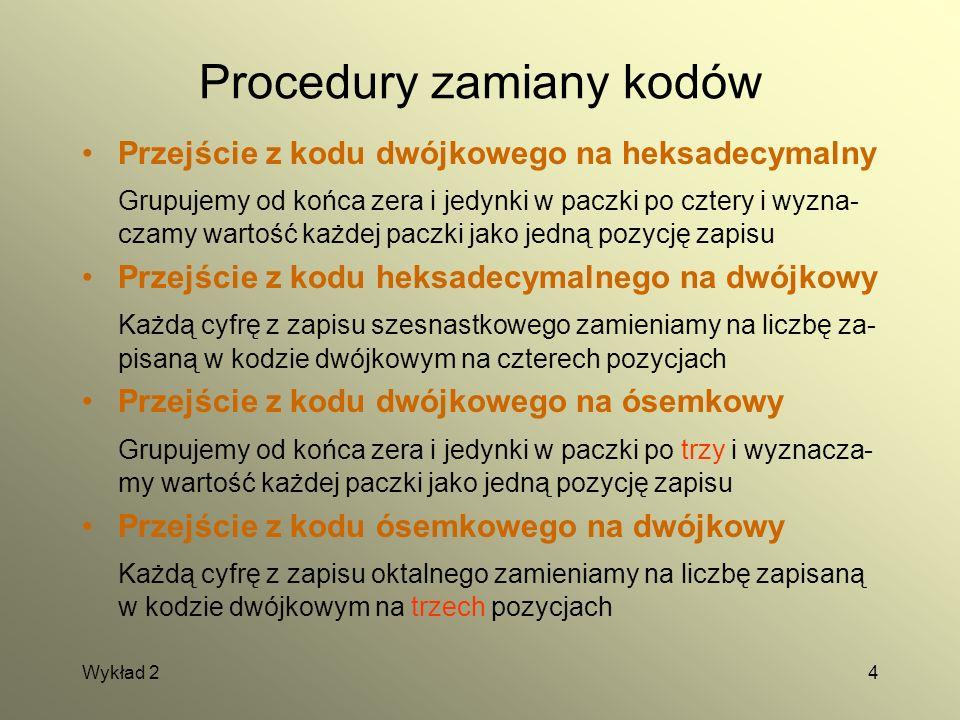 Procedury zamiany kodów